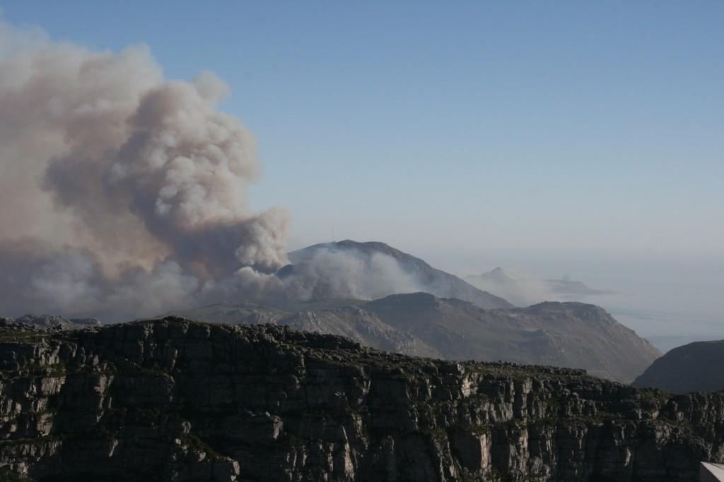 Buschbrand beim Chapmans-Peak