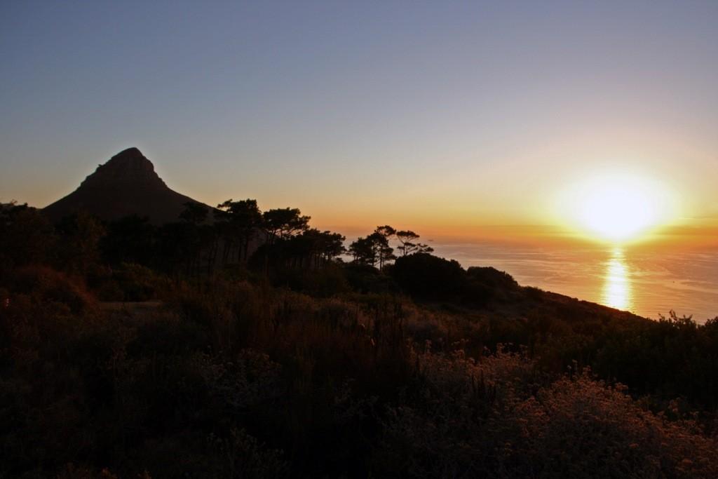 Lions Head mit Sonnenuntergang