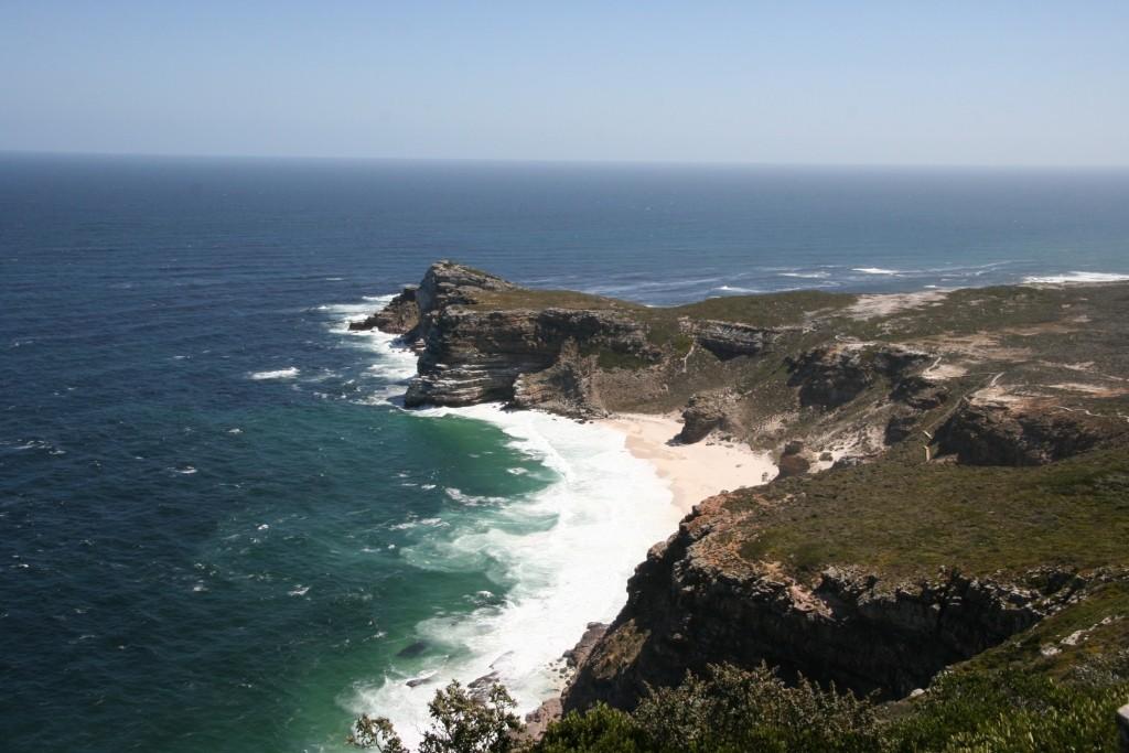 Aussicht vom Cape Point aufs Kap der Guten Hoffnung