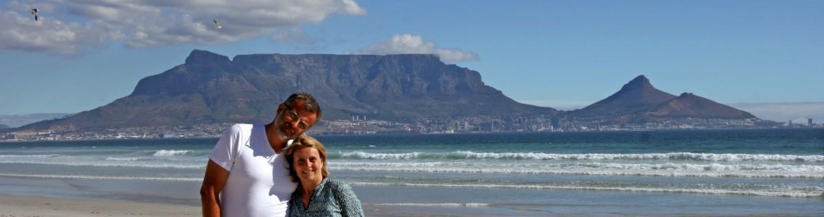 Andrea und Wolfgang in Südafrika 2015 und 2019